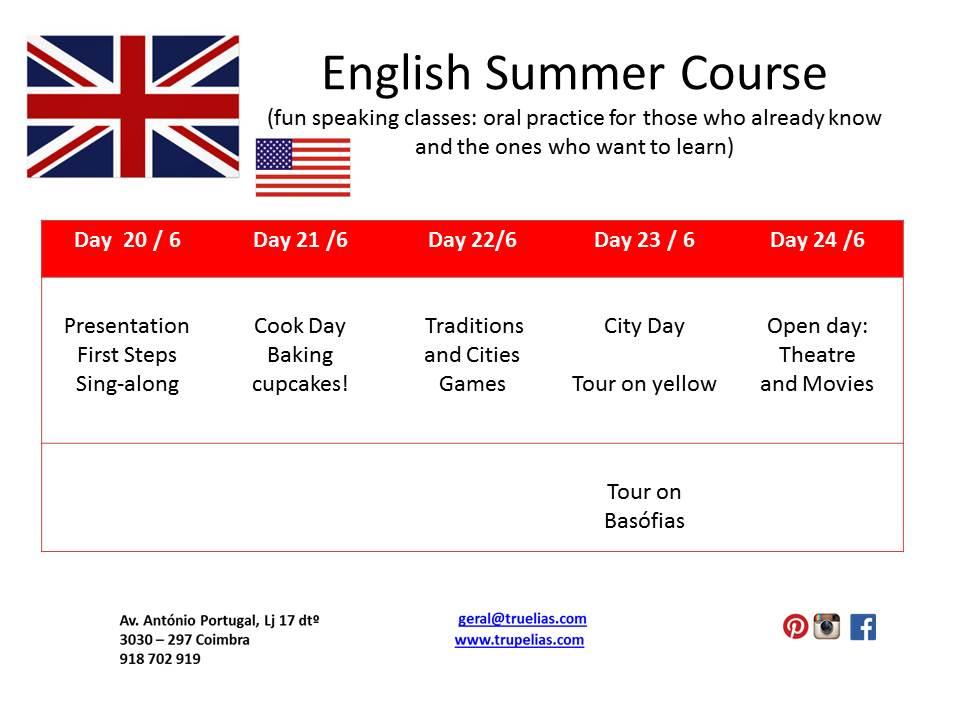Férias de Verão 2016 English Course